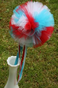 Dr. Seuss Themed Puff Wand - Great Party Decor!!