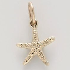 Starfish Charm   https://www.charmnjewelry.com/category/gold-Animal_Charms.htm #SeaCharm