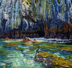 Mark Cross - New Zealand Born contemporary realist artist New Zealand Art, Nz Art, Kiwiana, Mark Cross, Deep Sea, Acrylic Art, The Good Place, Scenery, Gallery