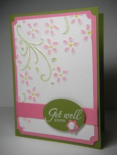 Elegant Bouquet embossing folder with pastel colors.