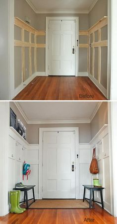 4 Easy Tips: Living Room Remodel Rustic Wall Colors living room remodel on a budget ikea hacks.Living Room Remodel On A Budget Fractions living room remodel before and after curtains.Living Room Remodel With Fireplace Mantles. Diy Wood Wall, Wood Walls, Paneling Walls, Paneling Ideas, Pallet Walls, Wood Accent Walls, Interior Wood Paneling, Wood Paneling Makeover, Home Decor Ideas
