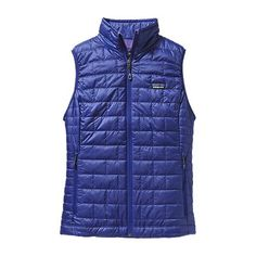 Patagonia Cobalt Blue Nano Puff Vest - In love with this light but super warm layer. My bf got me this to use when my jacket was a little too much, however, I generally wear the vest right under my down jacket! <3MCD<3