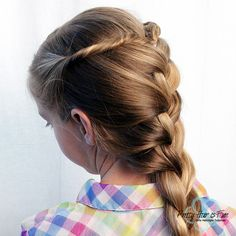 Pretty Hair is Fun: Princess French Braid Back To School Hairstyles, Great Hairstyles, Short Hairstyles, Hairstyle Tutorials, Braided Ponytail, Twist Braids, French Braid, White Hair, Hair Dos