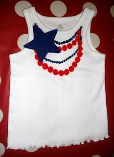 4th of July Necklace Shirt