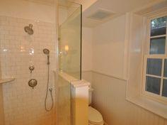 Shower Stall with Frameless Shower Doors