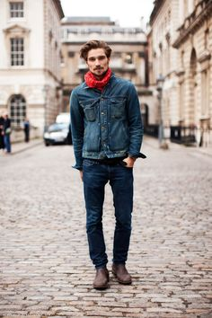 I have such a hard time finding a properly cut Jean jacket like this :-/ #style #fashion #mens | See more about Denim On Denim, Jean Jackets and Fashion Men.
