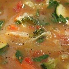 Weight Watchers Recipes with Points | Zero Points Soup (Weight Watchers) Recipe