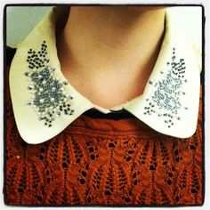 embellished collar