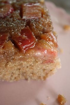 Strawberry Rhubarb Upside Down Cake - I just baked this and I'm not sure I can wait until it's at room temperature (like the recipe suggests) before diving in!