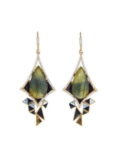 One of a Kind Sapphire Stunner Earrings - Nak Armstrong