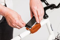 THIS!!! SO GENIUS!!! Practical and Handmade: Bike Accessories from The Beebe Company