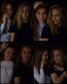 Sophie Simnett and her friend
