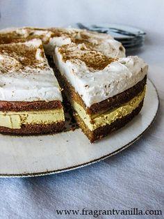 Vegan Pumpkin Tiramisu | Fragrant Vanilla Cake