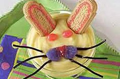 Easter Bunny Pudding Desserts Recipe