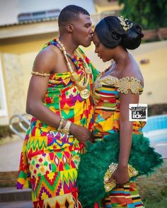 Congratulations to the couple Nii & Lawrencia on your engagement. African Print Wedding Dress, African Wedding Attire, African Attire, African Wear, African Weddings, African Traditional Wedding Dress, Traditional Wedding Attire, Traditional Weddings, African Lace Dresses
