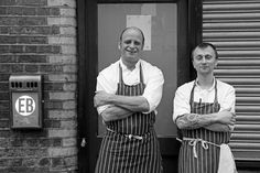 Chefs at the backdoor, Rivington Street, Shoreditch district, East End of London, 2015 Chefs, London, London England