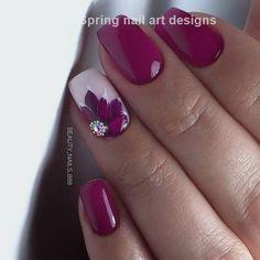 Beauty Nails & Nail art design nail polish # nail polish # nail gel design The post Beauty Nails & Nail art design nail polish # nail polish # nail gel design appeared first on alss wp. Flower Nail Designs, Flower Nail Art, Nail Designs Spring, Nail Art Designs, Nails Design, Art Flowers, Magenta Nails, Burgundy Nails, Oxblood Nails
