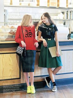 How to Wear Fall/Winter Dress? Paris is Coming, Fashion is Here!! Daily LookBook 2014.11.15  #skirt + #sweater #dress