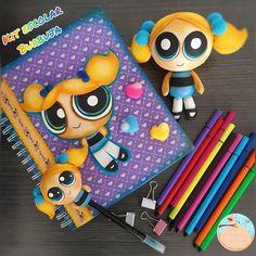 Diy Notebook, Notebook Covers, Foam Crafts, Scrapbook, Cartoon, Dolls, School, Birthday, Cute