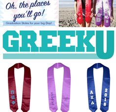 Please read my NEW Sister-to-Sister PRODUCT REVIEW of GREEK U Grad Stoles!! I examine and report on the custom satin graduation stoles especially for senior sorority sisters. Sweet Elite Sponsor Greek U sent me several samples and I can't wait to tell you all about them. Get the gorgeous grad scoop now! <3 BLOG LINK: http://sororitysugar.tumblr.com/post/141916636379/sister-to-sister-product-review-greek-u-grad#notes
