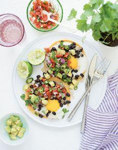 Breakfast Tacos with Salsa | Penguin Random House Canada Egg Recipes, Whole Food Recipes, Healthy Recipes, Marilyn Denis Recipes, Joyous Health, Tacos And Salsa, Cauliflower Hummus, Breakfast Tacos, Breakfast Recipes