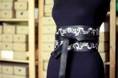 Leather embroidered belt by johankattbroderie on Etsy, €356.00