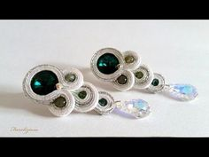 "Beautiful Soutache Earrings Step by Step Tutorial - Soutache earrings ""Tears"" free video YouTube."