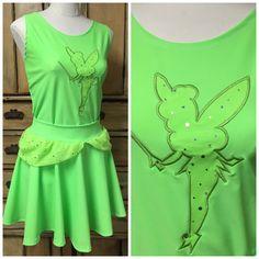 Complete tinkerbell Running outfit custom skirt by suestevepat
