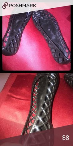 1861522d Jelly shoes!- worn. Jelly shoes for women! Shoes Flats & Loafers