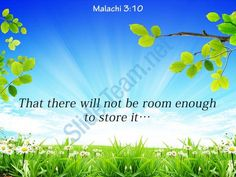 malachi 3 10 that there will not be room powerpoint church sermon Slide01http://www.slideteam.net