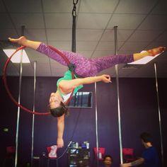 Finally! Must work on straightening the back leg, but I freakin' got it! Thanks for your inspiration @ployemma!! #lyra #aerialhoop #jadesplit #splits #aerialist #AerialNation #aerialistsofig #circus #circusfreak #circusartistcirque #Arkansas #acrobat #gymnast #gymnastics #flexible #aerialfitness #dance #dancer #hoop #usaerial #Fabletics #FableticsOOTD