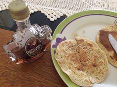 Panqueques con miel de maple