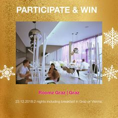 win 2 nights for 2 at Hotel roomz in Graz, Austria Graz Austria, Advent Calendar, Competition, Night, Day, Travel, Voyage, Viajes, Traveling