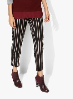 Buy Dorothy Perkins Black Stripe Textured Coloured Pant for Women Online  India, Best Prices,