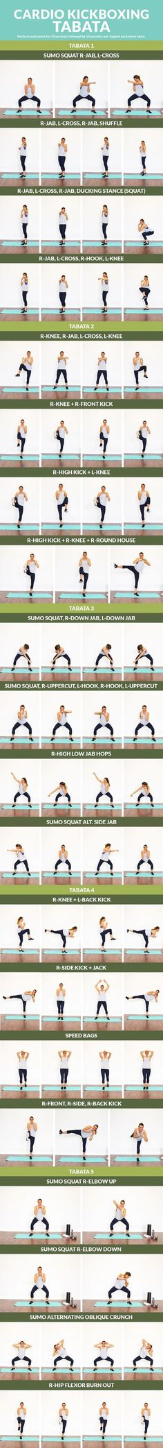 Cardio Kickboxing Tabata - A workout that'll tone your muscles and make you feel like a badass!!