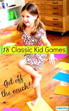 Get your kid moving with these fun games& won't even realize she's getting exercise! Indoor Activities, Craft Activities For Kids, Summer Activities, Toddler Activities, Games For Kids, Family Games Indoor, Kids Moves, Fun Games, Fun Girl Games
