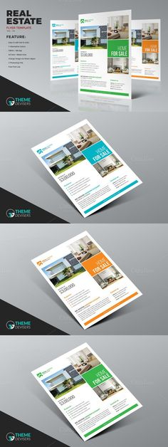 Real Estate Business Flyer Template. Flyer Templates. $6.00