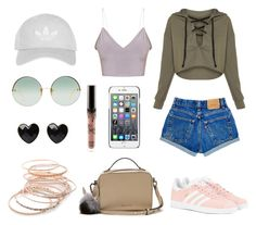 """Untitled #11"" by ele-duperray on Polyvore featuring Red Camel, adidas Originals, Linda Farrow, Moschino and Topshop"