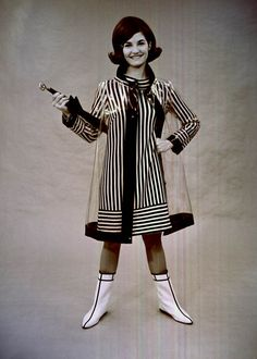 A 60s raincoat, the perfect accessory for those rainy Florida days! (1967) | Florida Memory