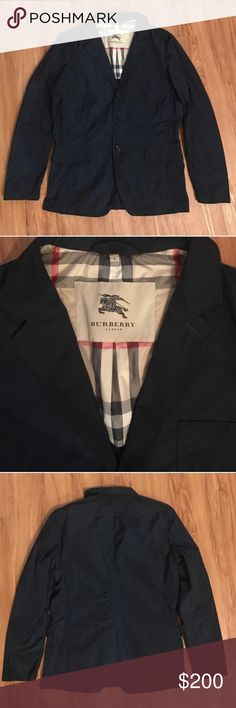 Burberry Nylon Navy Jacket Burberry Nylon Navy Jacket. 100% Authentic. Never worn, excellent condition. Price is Firm. Burberry Jackets & Coats Lightweight & Shirt Jackets