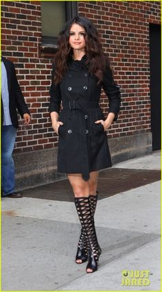Selena Gomez and Brian Atwood Electra Leather Cutout Knee-high Boots Photograph