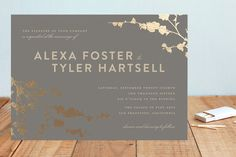 In Bloom Foil-Pressed Wedding Invitations by Three... | Minted