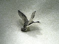 Fehér Péter - Ezüst kacsa kitűző