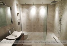 luxury wet room by Marcin Bathrooms Wet Room Bathroom, Master Bathroom, Bathroom Ideas, Wet Room Flooring, Senior Living, Wet Rooms, My Dream Home, Dream Homes, Beautiful Bathrooms