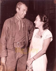 Paraluman gushing at James Stewart at the set of Bend of the River 1951 Sampaguita, Philippine Art, Filipiniana, Pinoy, Old Hollywood, Philippines, Actors & Actresses, Nostalgia, Old Things