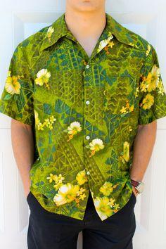 Men's Retro Hawaiian Shirt by BeggarsBanquet on Etsy