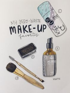 Zero waste makeup brands from the Zero Waste Artist