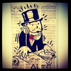 jh- his main logo, like this a lot. black & white with color pop   Alec Monopoly