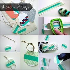 Washi Tape Tags - not sure how easily my punches will work but definitely can use my die cutting machine.