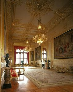 Windsor Castle - Grand Reception Room This England: Spirit of England - Royal Palaces of England Buckingham Palace, Inside Castles, Aubusson Rugs, English Castles, Royal Residence, Windsor Castle, Windsor Palace, Royal Palace, Palace Uk